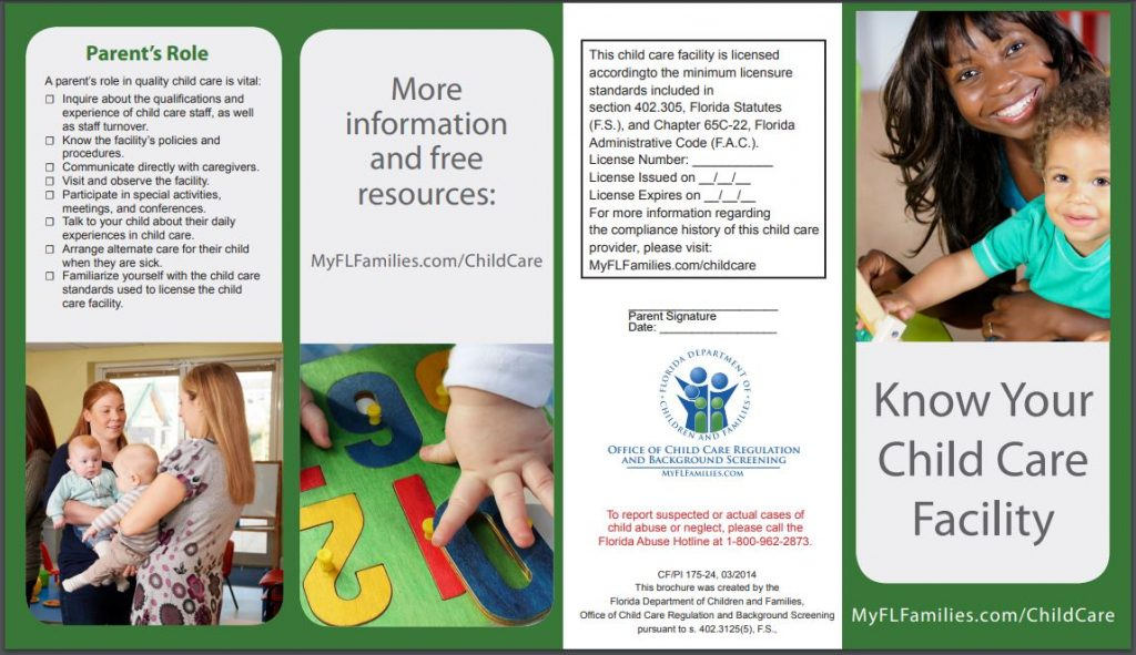 Know Your Child Care Facility 1