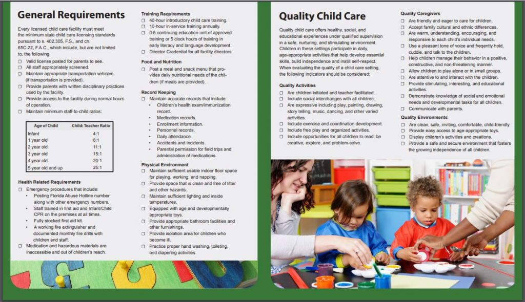 Know Your Child Care Facility 2